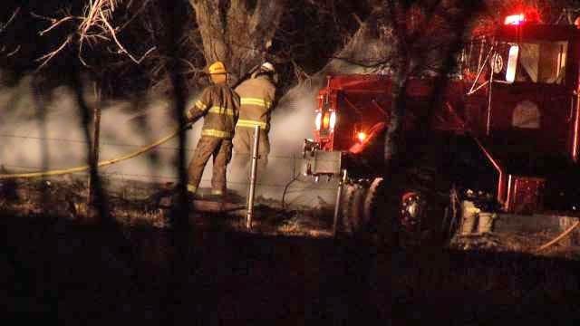 Grass Fire Burns Home In Washington County