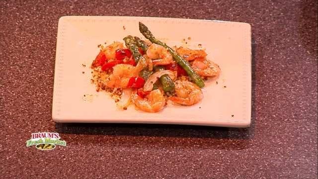 Grilled Asparagus And Shrimp Quinoa