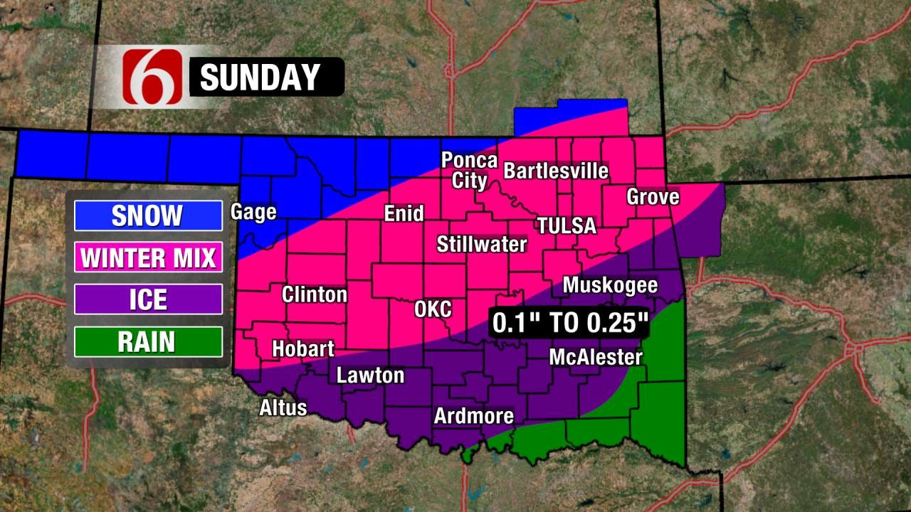 Sleet Storm Still Set for Sunday