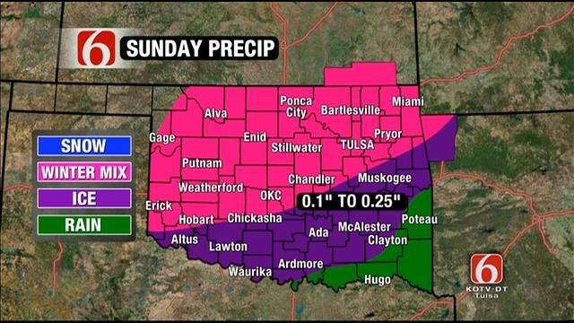 Winter Storm Warning Issued For Northeastern Oklahoma This Weekend