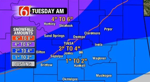 More Snow In Forecast For Northeast Oklahoma