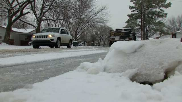 Pawhuska Man Makes Snow Plow Out Of Satellite Dish