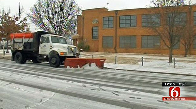 Tulsa Schools Plowing Roads To Keep Students Safe In Storm