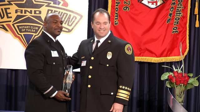 Tulsa Police Officer, Firefighter Of Year Honored With 'Above And Beyond' Awards