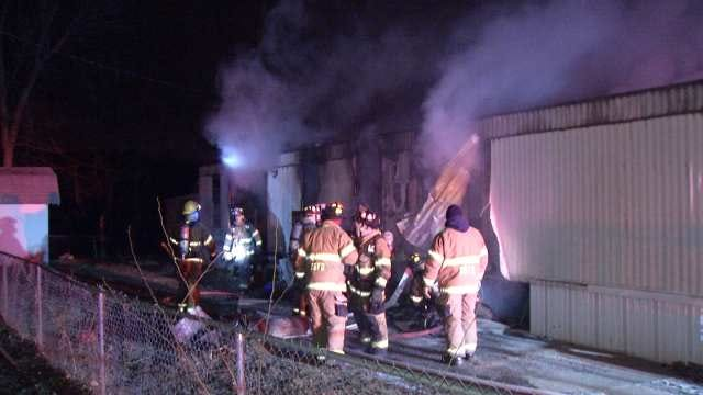 Sand Springs Mobile Home Destroyed In Fire