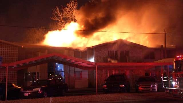 Tulsa Firefighters Battle Midtown Apartment Fire, Bitter Cold