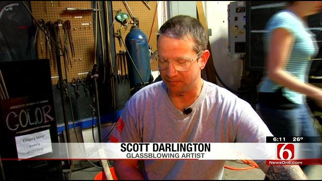 Famous Glassblower In Tulsa For Friday Art Crawl