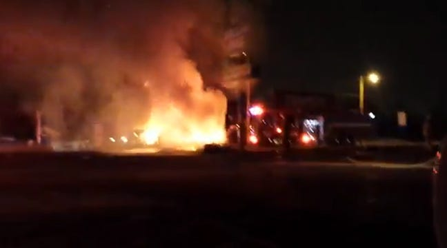 Tulsa Police Rescue Passengers Injured In Fiery Car Crash