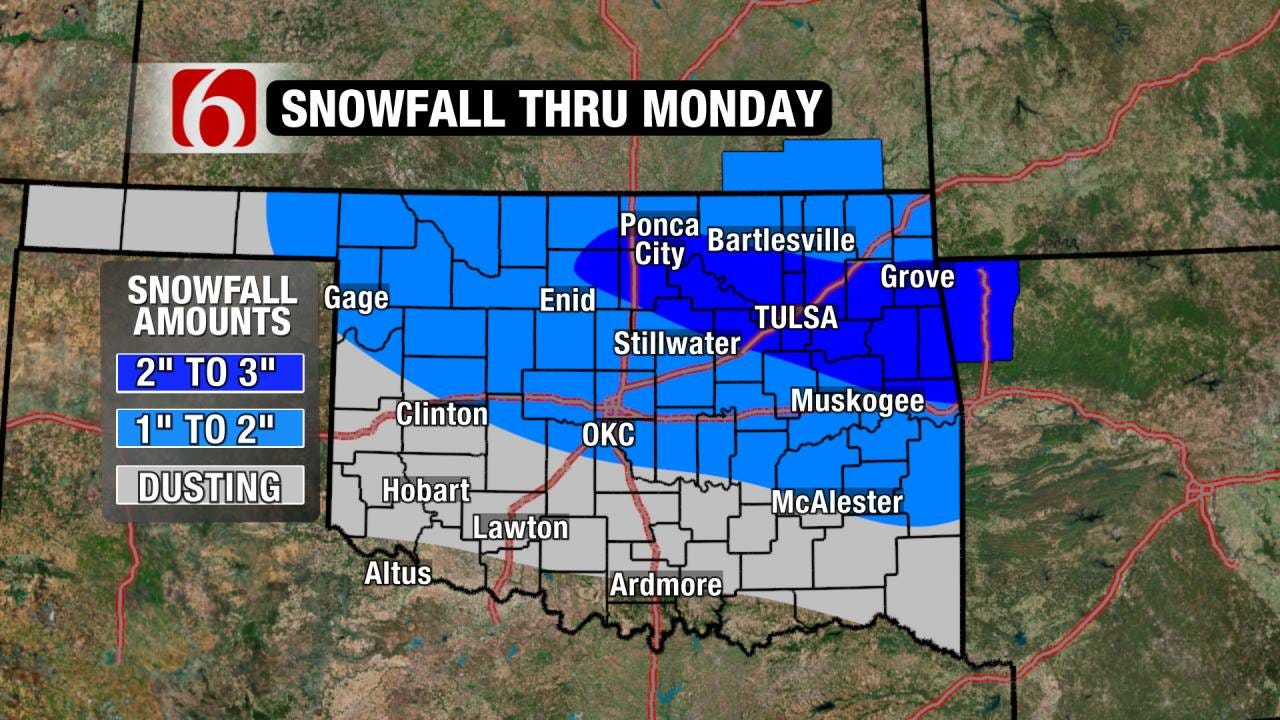 Icy Threat Turns to Snow Potential Monday