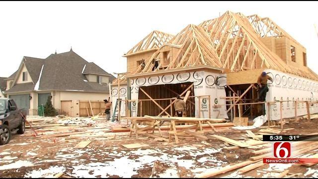 Winter Weather Slows Work On Tulsa-Area Construction Sites