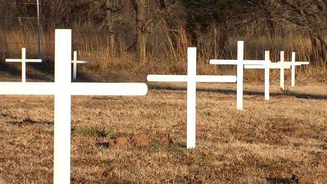 Bristow Boy Scout Renews Crosses At Small Route 66 Cemetery