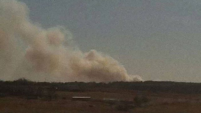Oklahoma Firefighters Battle Grass Fires Across State
