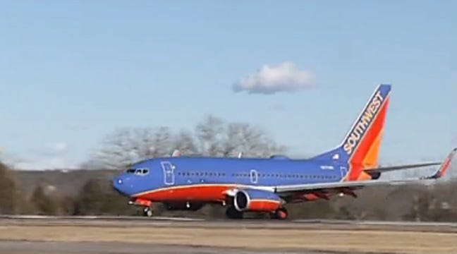 Southwest Airlines Jet Comes To Tulsa After Landing At Wrong Branson Airport