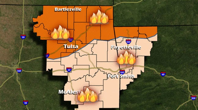 Fire Danger Continues In Dry, Windy Northeastern Oklahoma