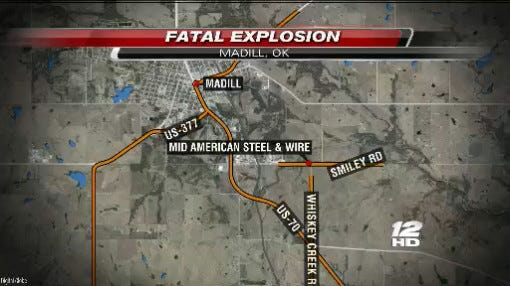 Explosion At Madill Plant Leaves At Least 2 Dead, 1 Injured