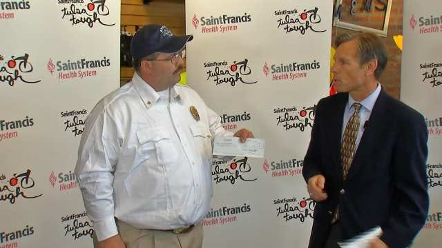 Tulsa Tough Donates To Fire Department Victimized By Vandal