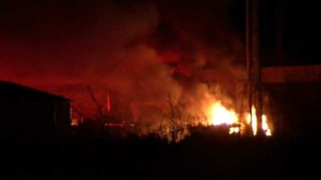 Down Power Line Sparks Grass Fire In Sand Springs