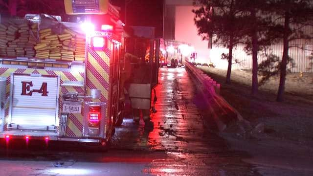 Firefighters Extinguish Dumpster Fire At Tulsa's Trash Plant