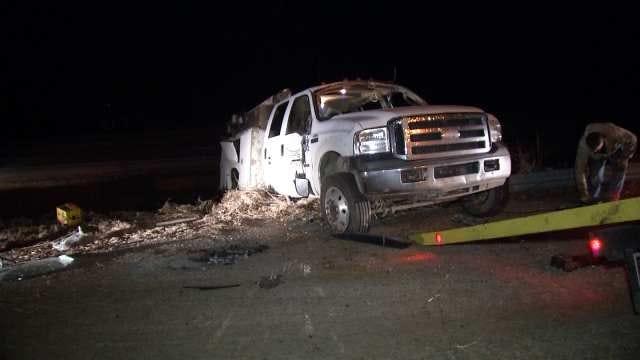 Troopers Say Truck Driver Hospitalized After Sapulpa Highway Crash