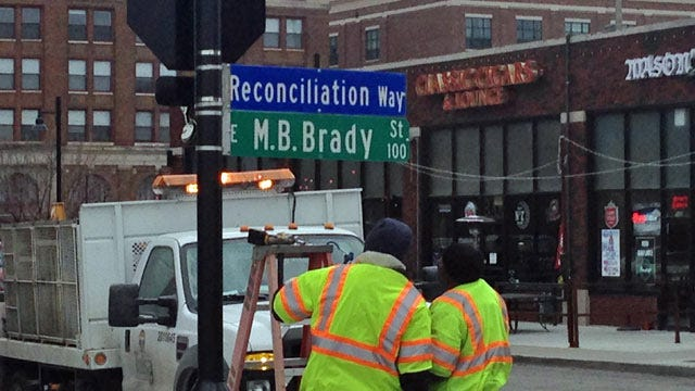 'Brady Street' Signs Replaced In Downtown Tulsa