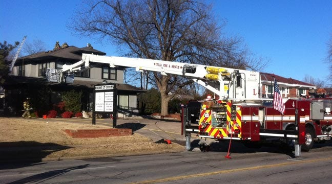 Cigarette Sparks Midtown Tulsa Law Office Fire