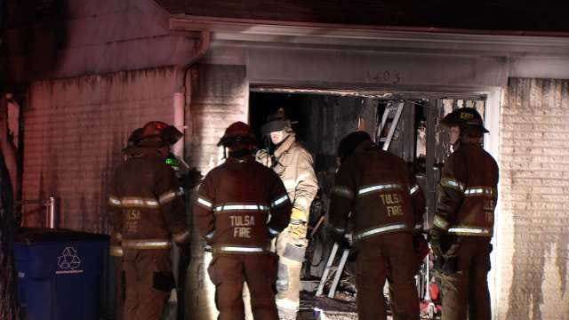 Cause Of Fire In Garage Of Tulsa Home Under Investigation