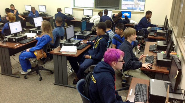Tulsa School Students Test Their Testing Computers