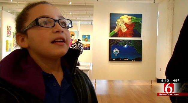 Tulsa Girls Art School Students Showcase Work In Brady District