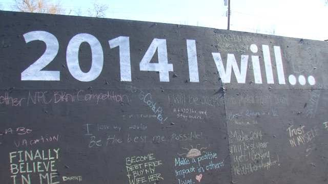 Broken Arrow Gym Users Spell Out New Year's Resolutions In Chalk