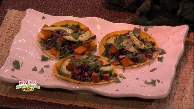 Kale, Sweet Potato And Black Bean Tacos