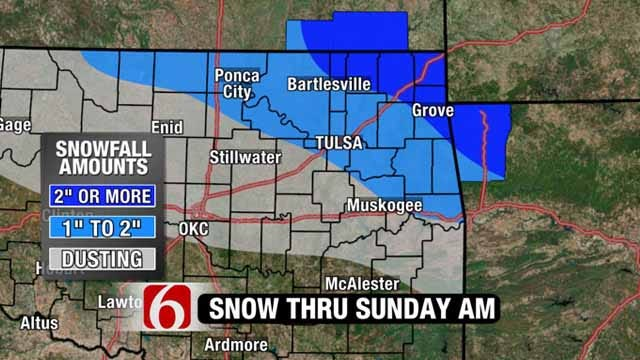 Winter Weather Advisory Issued For Green Country