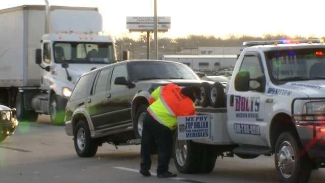 Four-Vehicle Crash On I-244 At Highway 11 Backs Up Traffic