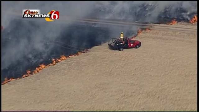 20 Fire Departments Respond To Fast-Moving Wildfires In Craig County