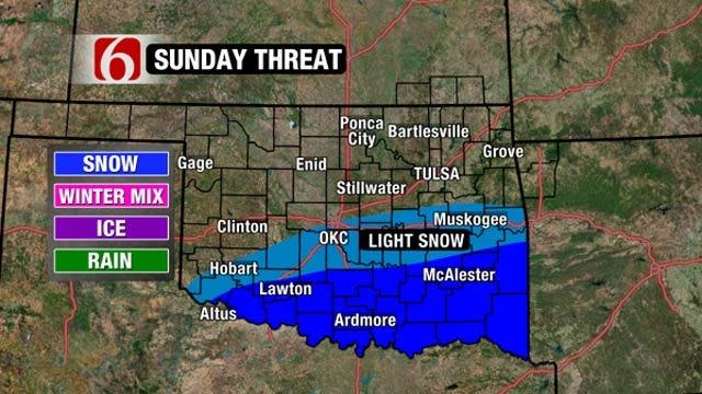 Forecast: Winter Storm Bringing Snow Back To Oklahoma