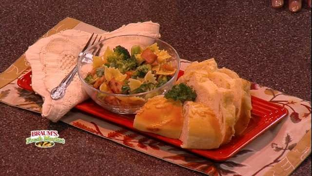 Creamy Bow Ties with Ham and Broccoli