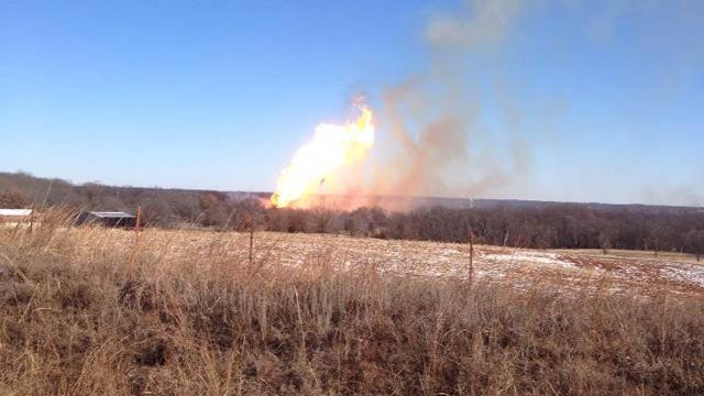 Pipeline Explosion Causes Large Fire Near Milfay