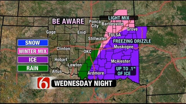 Freezing Drizzle In The Forecast For Green Country