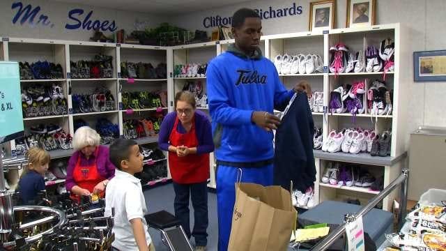 TU Basketball Team Lends Helping Hand To Tulsa Kids