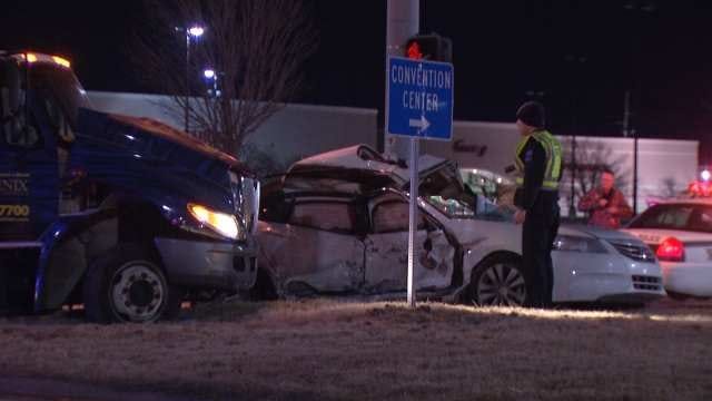 Tulsa Police: Crash Prevents Car From Entering Highway In Wrong Direction