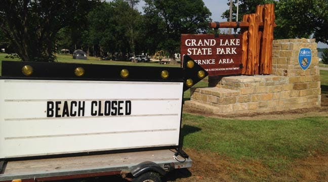 Grand Lake Swimming Area Remains Closed