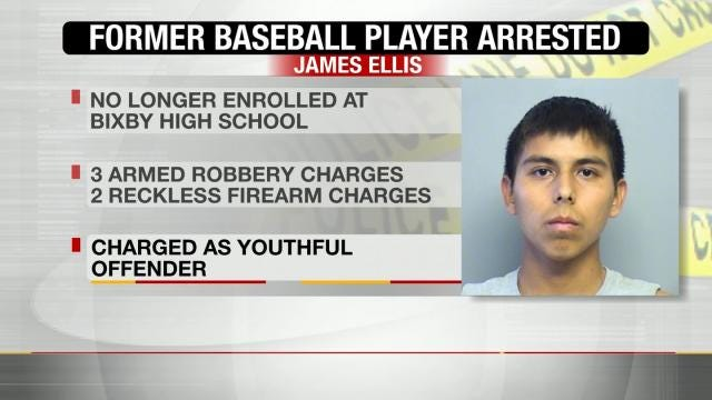 Bixby Teen Arrested For Armed Robberies Charged As Youthful Offender