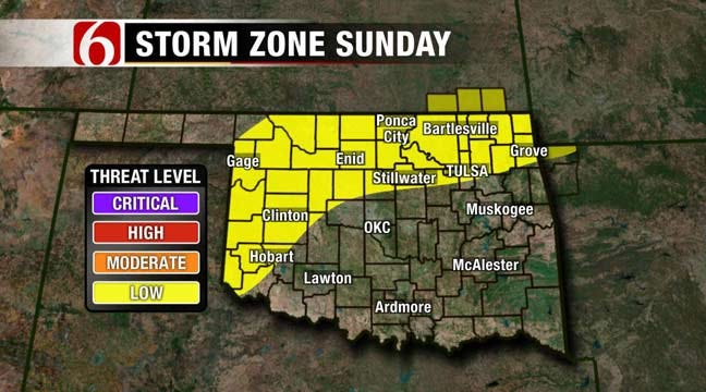 Low Risk Of Severe Storms Continues In NE Oklahoma