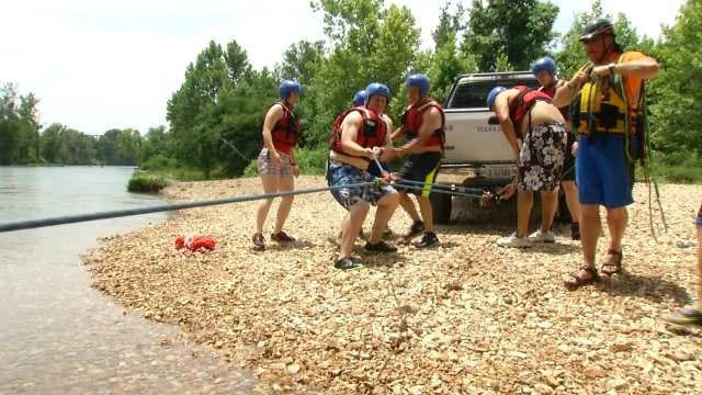 Tulsa Fire Cadets Train For Swift Water Rescue
