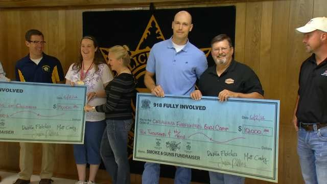 Charities Come Out Winners After Tulsa Police, Fire Fight Night