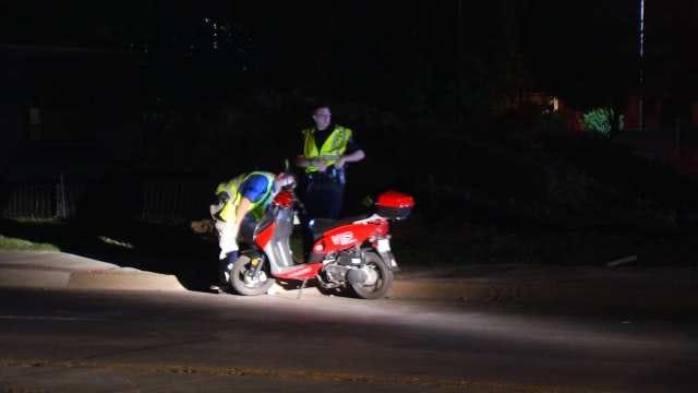 Scooter Rider Injured In Tulsa Crash