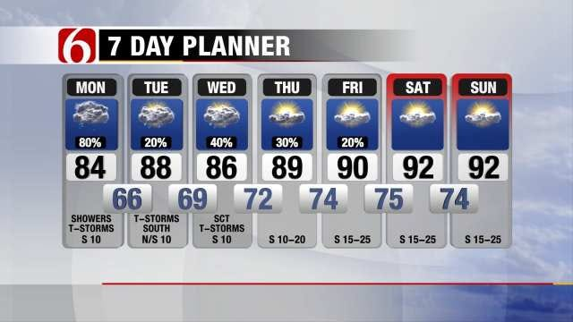 Showers, Thunderstorms Move In To Eastern Oklahoma