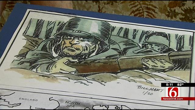Oklahoma D-Day Veteran Uses Art To Relieve Stress