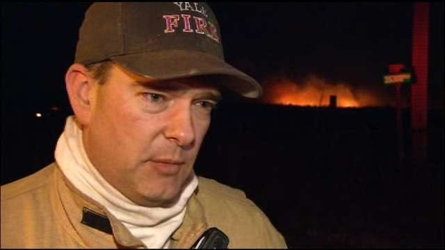 Grassfires Burn In Oklahoma, Man Defends Home With Garden Hose