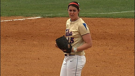Creger's 13 Strikeouts Leads TU Softball Past Arkansas