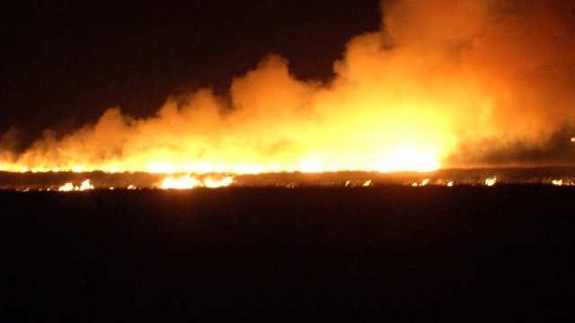 Fire Chief: Fast-Moving Rural Collinsville Grass Fire Intentionally Set